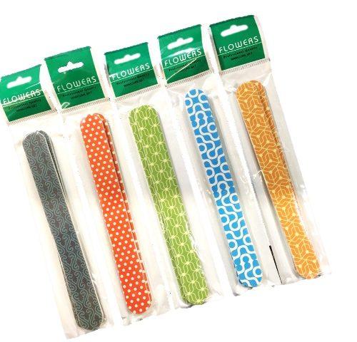Λίμες Νυχιών Ακρυλικές 4864 σετ 2 τεμαχίων σε διάφορα χρωματιστά σχέδια