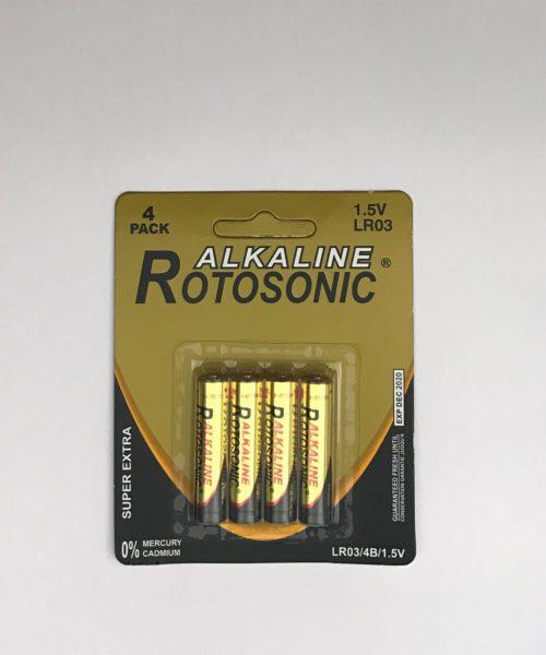 Μπαταρία Αλκαλική Rotosonic ΑΑΑ, LR03 1.5V